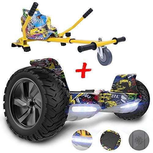 GEEKME Hoverboard scooter elettrico autoalimentato da 8,5 '' per tutti i terreni con potente motore...