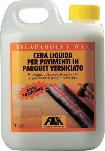 Fila Parquet Wax Cera Autolucidante Per Pavimenti In Parquet Verniciato 1 Lt.