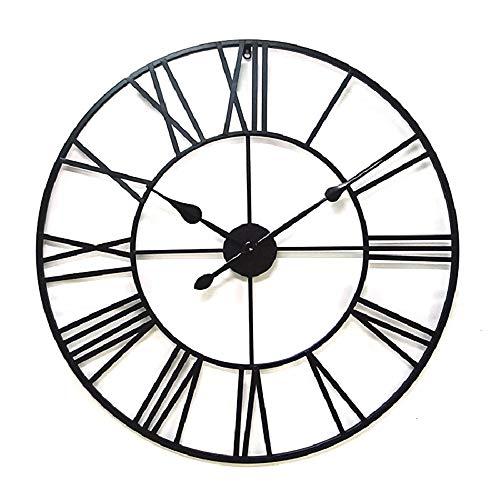 LF-orologio da parete Orologio da Parete Altalena Muto, Orologio da Parete Vintage in Ferro battuto, Orologio da Parete Decorativo Multi-Dimensione Creativo (Size : 100cm)