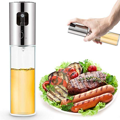 EXTSUD Oliera a Spruzzo per Olio Aceto Nebulizzatore Dosatore Spray in Acciaio Inox e Vetro...