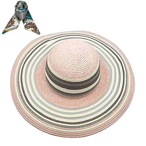 Cappelli da Sole Donna Cappello da Spiaggia Estate Cappello di Paglia Cappuccio di Protezione Solare cap Protezione UV