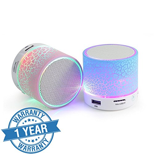 Captcha (Top Selling) Latest Wireless LED Bluetooth Speakers S10 Handfree with Calling Functions & FM Radio (Assorted Colour)