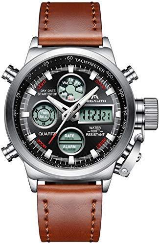 Orologio Uomo Orologi Militari Sport Impermeabile Cronografo LED Quadrante Grande Analogico Digitale Orologio da Polso Data Calendario Allarme Pesante
