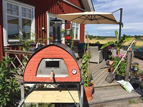 Forno a legna in refrattario, acciaio e alluminio Pizza Party 70x70 color PIETRA composto da...