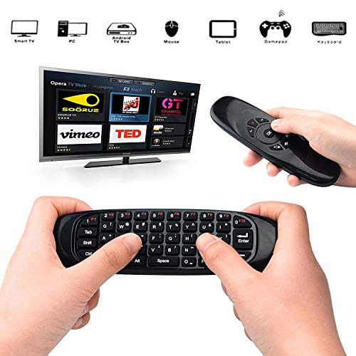 2.4GHz Air Fly Mouse Wireless Mini Keyboard with Mouse Game Handle Android Remote Control for Smart TV Android TV Box PC HTPC IPTV Media Player