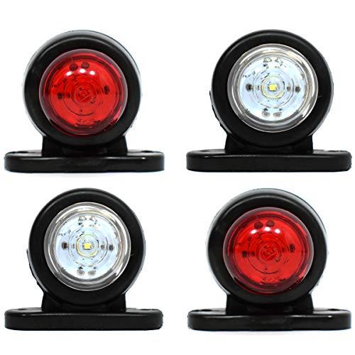4x 12V bianco LED rosso posteriore luci laterali SUV, camion, rimorchi, bus, caravan Van