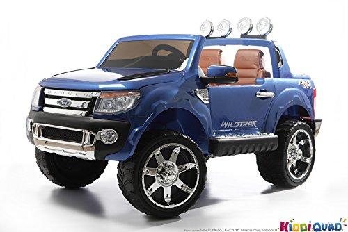 #Elektroauto für Kinder 2Sitzer, Ford Ranger, 12V, 2Motoren, Lack Blau metallic#