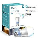 TP-Link Ampoule LED connectée WiFi, culot E27, lumière blanche d'ambiance, 10W, fonctionne avec Amazon Alexa, toutes les teintes de blanc, - LB120