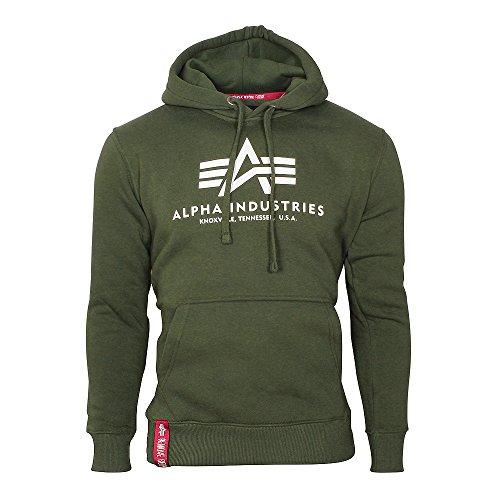 Alpha-Industries-Herren-Hoody-Basic-grn-M