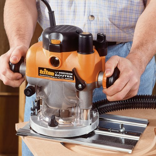 The Triton TRA001 Dual Mode Precision Plunger Router comes with a hefty 2400W motor giving it more than enough power for any woodworking jobs.