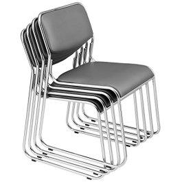[pro.tec] 4 sedie visitatori (Pacchetto risparmio) Sedia per conferenze / Sedia / Sedia per ufficio / Sedia / Sedia per sala d'attesa