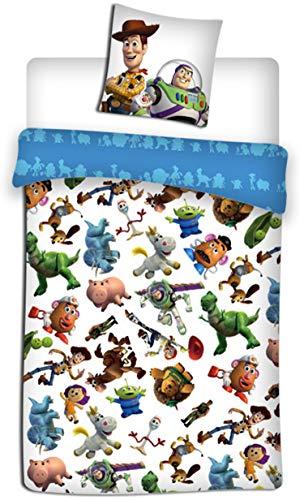 Toy Story Disney – Parure de lit – Housse de Couette – lit 1 Place