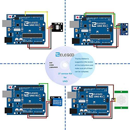 512u04zIpML - ELEGOO Actualizado 37-en-1 Kit de Módulos de Sensores con Tutorial Compatible con Arduino UNO R3 Mega 2560 Nano Raspberry
