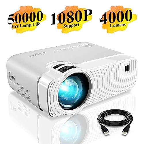 Proiettore Elephas Portatile da 4000 lumen,Lampada con Durata di 50000 Ore, Proiettore Video a LED,...