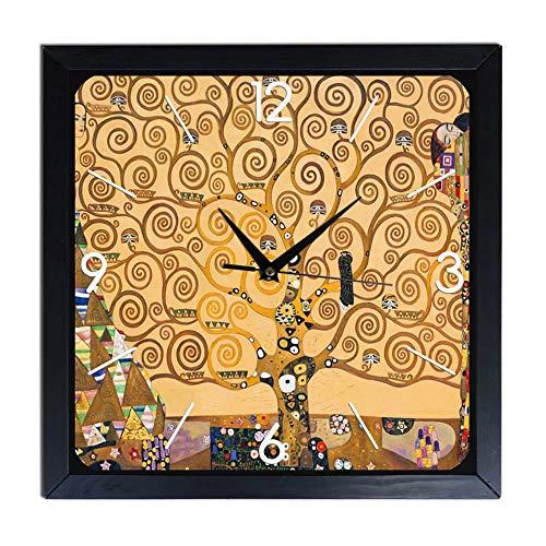 Orologio da parete in Legno Klimt - l'albero della vita