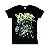 Logoshirt T-Shirt X-Men - Il Gruppo - Maglia Marvel Comics - X-Men - The Group - Maglietta Girocollo Nero - Design Originale Concesso su Licenza, Taglia XL