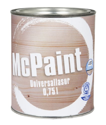McPaint universale Holzlasur für Innen und Außen besonders UV beständig Farbton Natur 0,75L -...