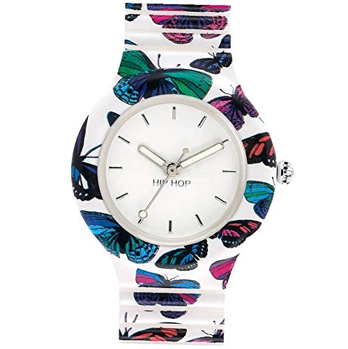 Hip Hop Watches HWU0675 Orologio da Donna Hip Hop Butterfly, Collezione Animals Addicted, Cinturino in Silicone, Cassa da 32 mm, Impermeabile