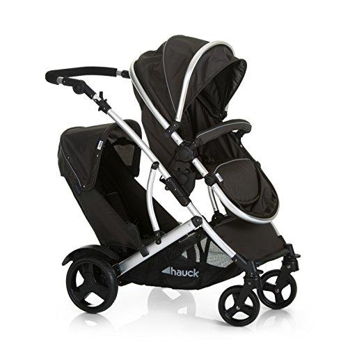 Hauck/Duett 2/ Passeggino Doppio/per fratelli età diversa/navicella neonato convertibile in...