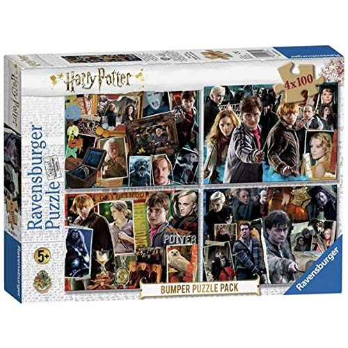 Ravensburger 06832 Harry Potter Puzzle, Bumper Pack, 4 x 100