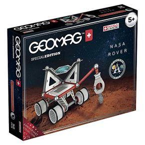 Geomag- Special Edition Rover NASA Construcciones Magnéticas, Color Multicolor (Blanco/Gris/Rojo/Azul), 52 Unidades (809)