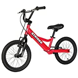 Strider Youth 16 Sport No-Pedal Balance Bike 6-12 years (Red)