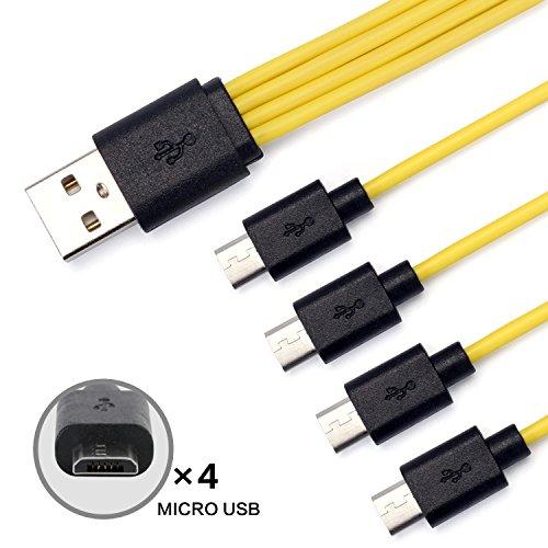 Faironly Multifunzione 1 F per 1 R 1/2/3/4 Android Cavo Dati interfaccia Micro USB Cavo di Ricarica...