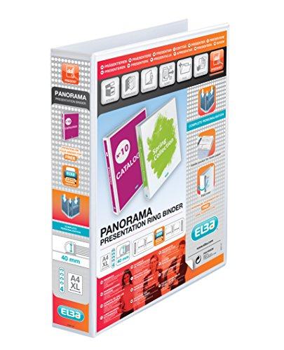 Elba Panorama presentazione Anelli, Formato A4+, 60mm, colore: bianco (Confezione da 10)