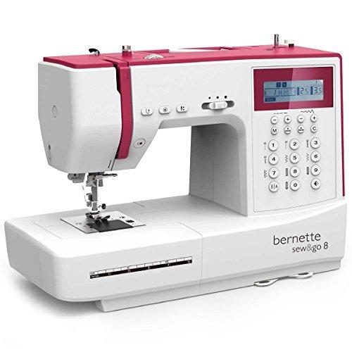 Bernette Sew & GO 8 - Macchina da cucire elettrica con 197 punti di cucito (utili, elastici,...