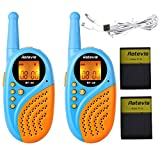 Retevis RT-35 Walkie Talkie per Bambini 8 Canali PMR446 VOX con Caricatore USB(Coppia Blu)