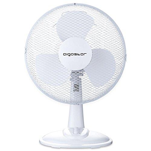 Aigostar Louis 33JTN - Ventilatore da tavolo, silensioso, 3 impostazioni di velocità, 40 Watt, 30,5...