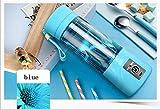 AN-LKYIQI USB Home Portable Fruit Juice Cup Electric Juice Cup Glass Mini Juicer Juice Machine , blue