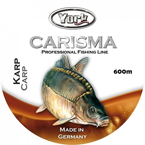 York Carisma Angelschnur Karpfenshnur 600m CARP Spule Monofile stark (0,016€/m) (0,35mm/18,1kg)