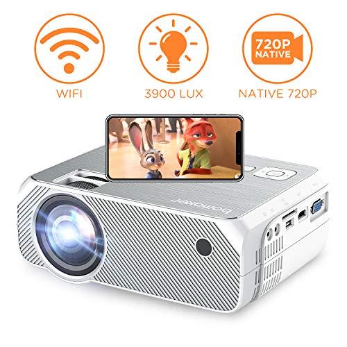 Proiettore, BOMAKER videoproiettore Wifi, 3900 Lumen, Risoluzione nativa 1280x720p, Supporto Full HD...