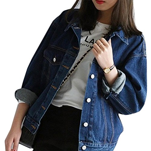 Mode Beiläufig Damen Mantel Jacke Denim Jacket Trench Parka Jacken...