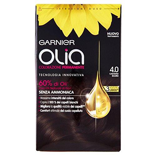 Garnier Olia Colorazione Permanente, 4.0 Castano Scuro - 1 Pacco
