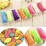 5g /8 Colores DIY mano polímero suave espuma que modela la arcilla Conjunto de nieve de la perla del fango plastilina plastilina educativos juguetes para niños