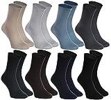 Rainbow Socks - 8 pares de Calcetines SIN ELÁSTICOS de Algodón para DIABETICOS - para Piernas HINCHADAS y VARICES - Cómodos y Delicados |Talla UE 42-43 Fabricados en Europa