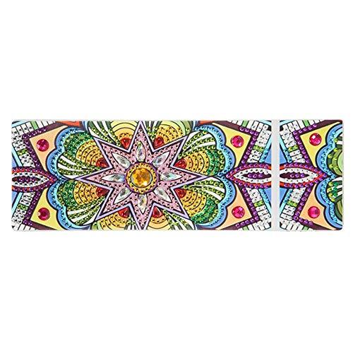 YanHeMingKeJi, astuccio trasparente per pittura a mosaico fai da te, con 2 griglie Size C