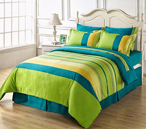 HighLife Ahmedabad Cotton Superior Cotton Double Bedsheet With 2 Pillow Covers - Blue/Green
