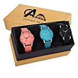 Acnos Analogue Multicolour Dial Women's Watch -Combo Pack of 3