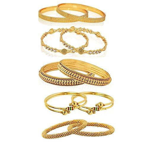 YouBella Combo Of Five Trendy Bangles Jewellery For Girls/Women (2.8)