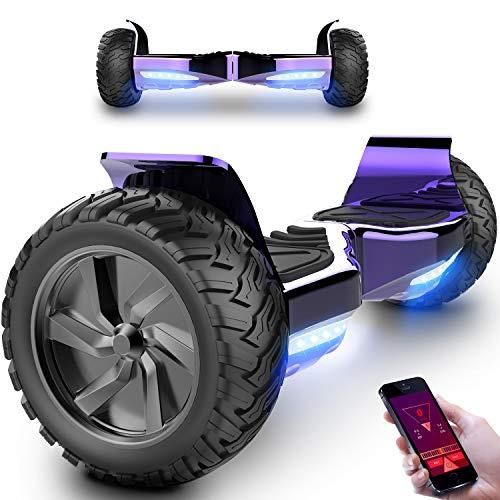 Markboard Overboard Hummer SUV 8.5 pouces, Gyropode Tout-Terrain 700W, Fonction App, Smart Scooter Électrique Auto-équilibrage(violet)