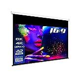 "eSmart Germany MIROLO Rollo-Leinwand [Größenauswahl] 266 x 149 cm (120"") 16:9   Vollmaskierung   Heimkino Beamer Projektionsleinwand Rollo Leinwand LCD LED"