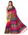 e-VASTRAM Women's Art Silk with Blouse Piece Saree