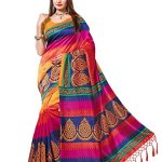 e-VASTRAM Women's Art Silk with Blouse Piece Saree