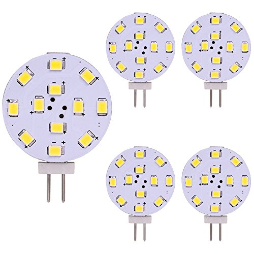 Lampadina LED G4, equivalente a 35 Watt, disco LED Bi-Pin, pin laterale JC, 12V-24V AC / DC Low...