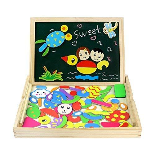 Fajiabao Puzzle Magnetico Legno Lavagnetta Magnetica Giochi di Legno Doppio Lato Puzzle Montessori...