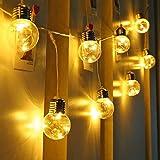 LE Stringa Luminosa Vintage 6m 25 Lampadine LED G45, Luce Catena Luminosa Impermeabile con 8 Modalità Bianco Caldo per Feste Natale, Decorazione Casa e Giardino, ecc.