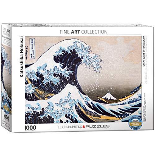 Eurographics 01545 Hokusai: La grande onda di Kanagawa, Puzzle, 1000 pezzi
